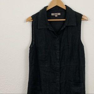 Flax Linen Button Down Dress / Lagenlook